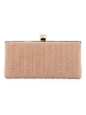 Jimmy Choo Celeste's Framed Glitter Tulle Clutch Bag