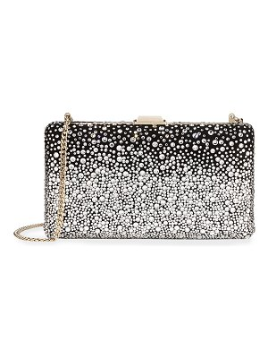 Jimmy Choo Clemmie Suede & Crystal Clutch Bag