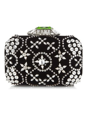 Jimmy Choo CLOUD Black Star Crystal Embroidered Clutch Bag with Crystal Clasp