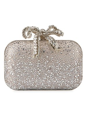 Jimmy Choo Cloud Crystal Bow Clutch Bag