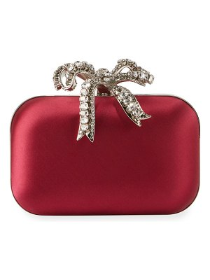 Jimmy Choo Cloud Satin Bow Clutch Bag