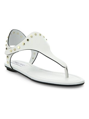 Jimmy Choo Dara Studded Leather T-Strap Sandals