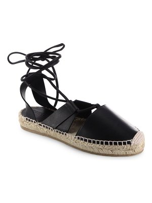 Jimmy Choo Darby Vac Leather Lace-Up Espadrilles