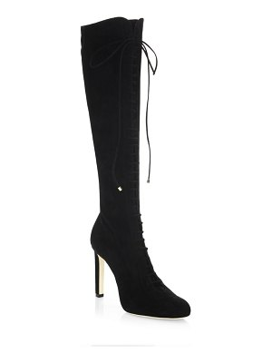 Jimmy Choo Desiree Lace-Up Cashmere Suede Boots