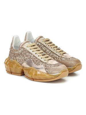 Jimmy Choo diamond glitter leather sneakers