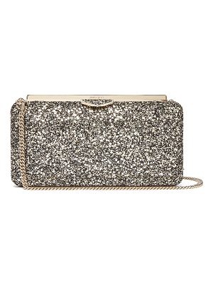 Jimmy Choo Ellipse glitter-embellished clutch bag