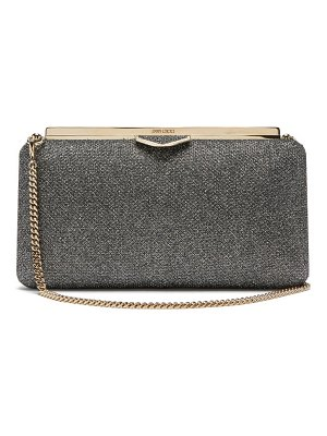 Jimmy Choo ellipse glitter lamé clutch