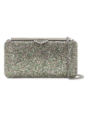 Jimmy Choo Ellipse glittered clutch