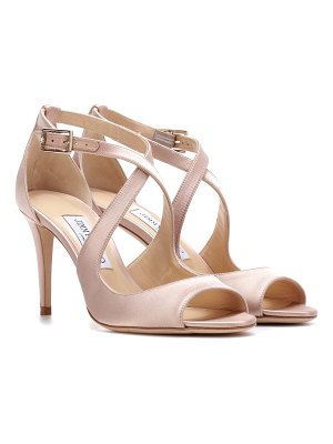Jimmy Choo Emily 85 satin sandals