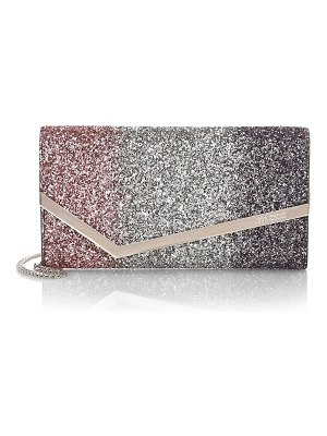 Jimmy Choo emmie degradé glitter clutch