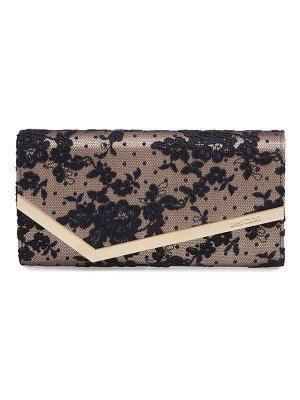 Jimmy Choo emmie floral lace clutch