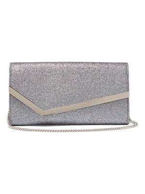 Jimmy Choo emmie glitter and leather clutch