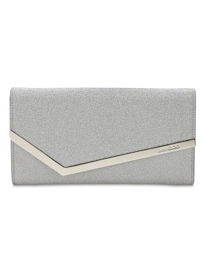 Jimmy Choo Emmie infinity glittered clutch