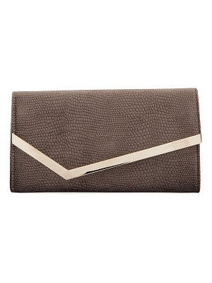 Jimmy Choo Emmie Lizard-Velvet Clutch Bag