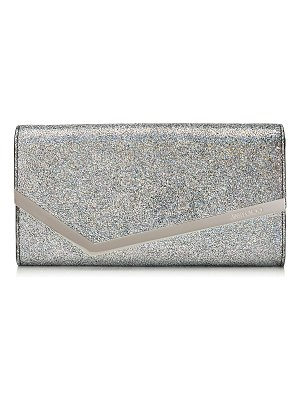 Jimmy Choo EMMIE Multi Hologram Leather Clutch Bag