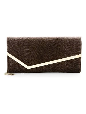 Jimmy Choo erica lizard-embossed velvet clutch