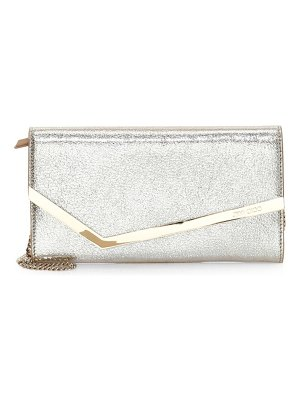 Jimmy Choo erica metallic leather clutch