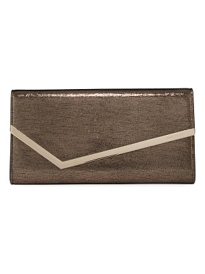 Jimmy Choo Erica Metallic Lizard-Print Clutch Bag