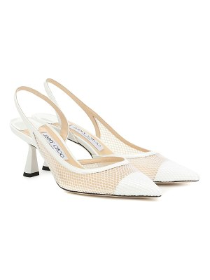 Jimmy Choo fetto 65 leather-trimmed pumps