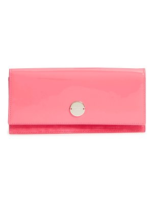 Jimmy Choo fie suede & patent leather clutch