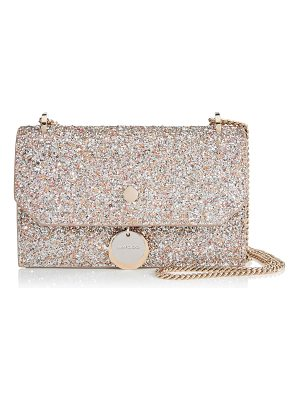Jimmy Choo FINLEY Viola Mix Speckled Glitter Fabric Mini Cross Body Bag