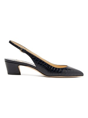 Jimmy Choo gemma 40 crocodile-effect leather slingback pumps