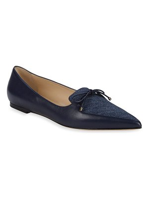 Jimmy Choo Genna Leather Point Toe Loafers