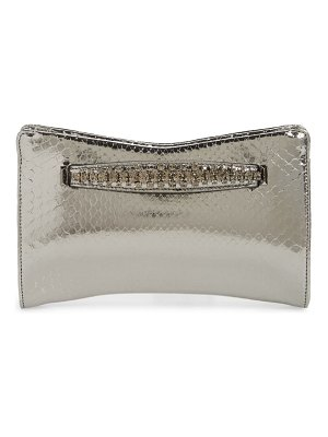 Jimmy Choo genuine python clutch with crystal bracelet handle