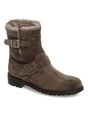 Jimmy Choo genuine shearling moto boot
