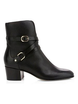 Jimmy Choo harker buckle leather ankle boots