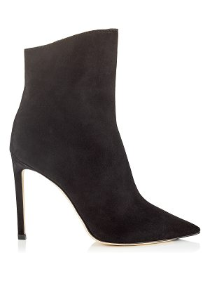 Jimmy Choo HELAINE 100 Black Suede Booties