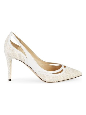 Jimmy Choo Hickory Cut-Out Leather Pumps