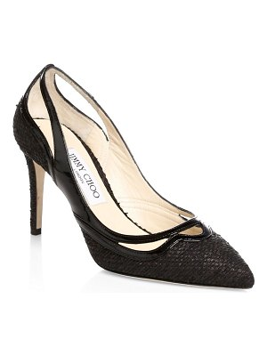 Jimmy Choo Hickory Woven Canvas Pumps