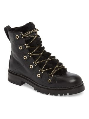 Jimmy Choo hillary genuine shearling trim combat boot