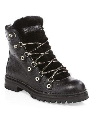 Jimmy Choo hillary shearling lace-up boots