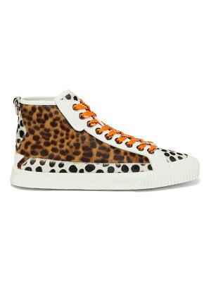 Jimmy Choo impala leopard-print high-top trainers