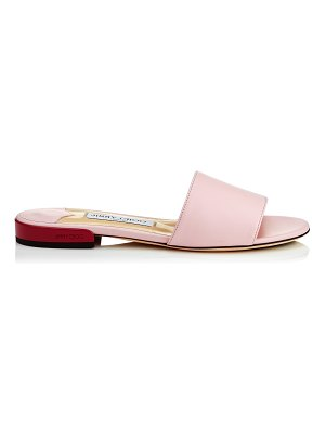 Jimmy Choo JONI FLAT Rosewater Nappa Leather Slides