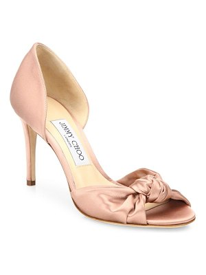 Jimmy Choo Kitty Knotted Satin d'Orsay Pumps