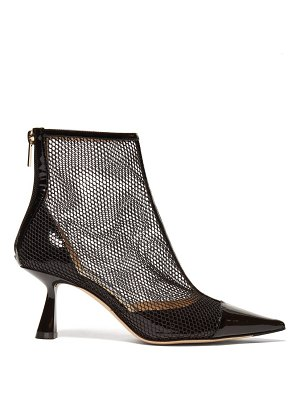 Jimmy Choo kix 65 mesh and patent leather ankle boots