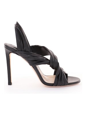 Jimmy Choo LALIA 100 Black Nappa Leather Heels with Intertwined Upper