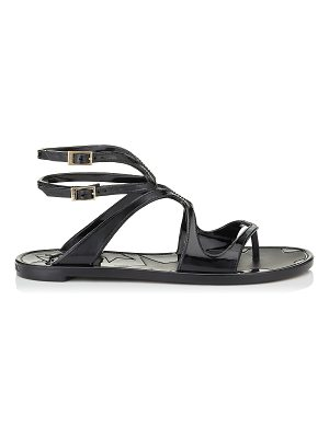 Jimmy Choo LANCE JELLY Black Rubber Jelly Sandals