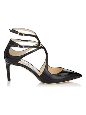 Jimmy Choo LANCER 65 Black Patent Leather Pointy Toe Pumps