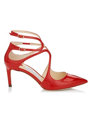 Jimmy Choo LANCER 65 Red Patent Leather Pointy Toe Pumps
