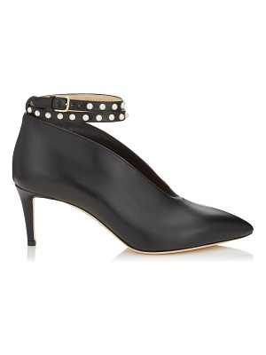 Jimmy Choo LARK 65 Black Shiny Calf Leather Booties