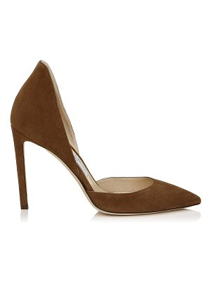 Jimmy Choo LIZ 100 Cacao Suede Pointy Toe Pumps