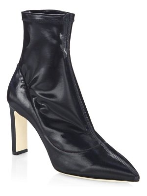 Jimmy Choo Louella Leather Point Toe Booties
