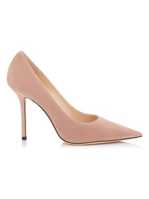 Jimmy Choo LOVE 100 Ballet Pink Suede Pointy Toe Pumps