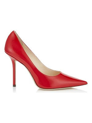 Jimmy Choo LOVE 100 Red Patent Leather Pointy Toe Pumps