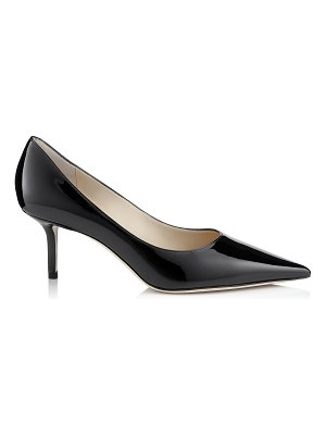 Jimmy Choo LOVE 65 Black Patent Leather Pointy Toe Pumps
