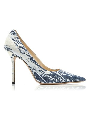 Jimmy Choo love bleached denim pumps